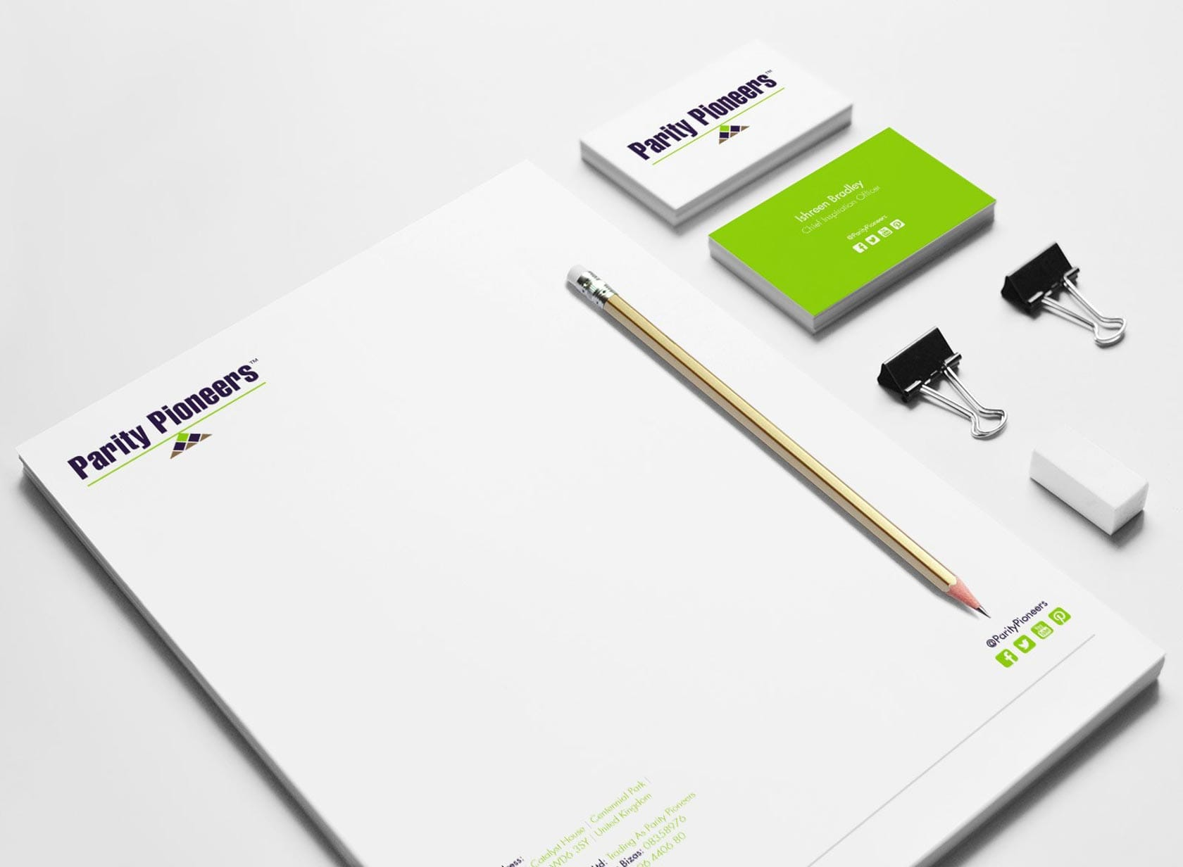 PP Project Image 05 - Logo & Visual Identity Design - Letterhead and Business Cards