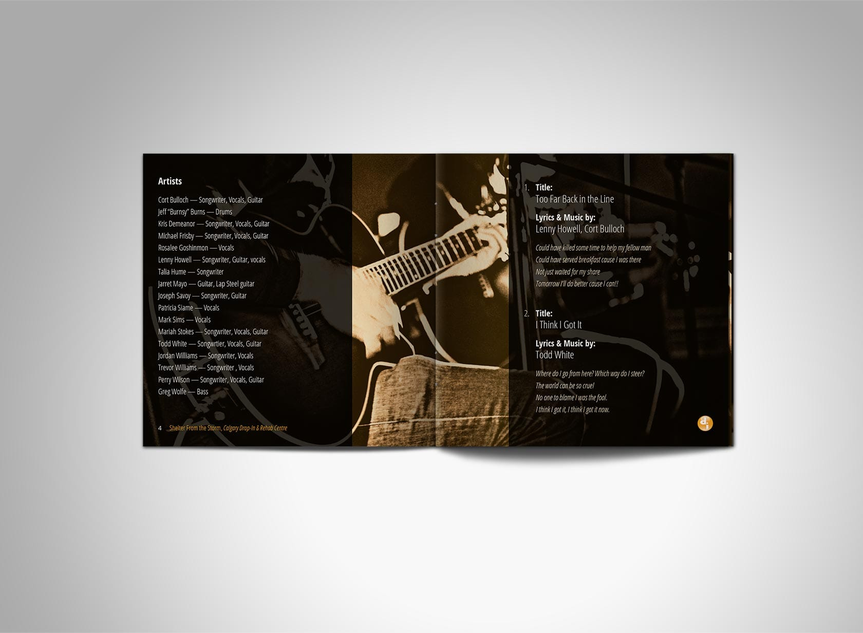 SFTS CD Project Image 01 - Event Program Design, CD Case - CD Booklet, Inner Spread Pages 4/5