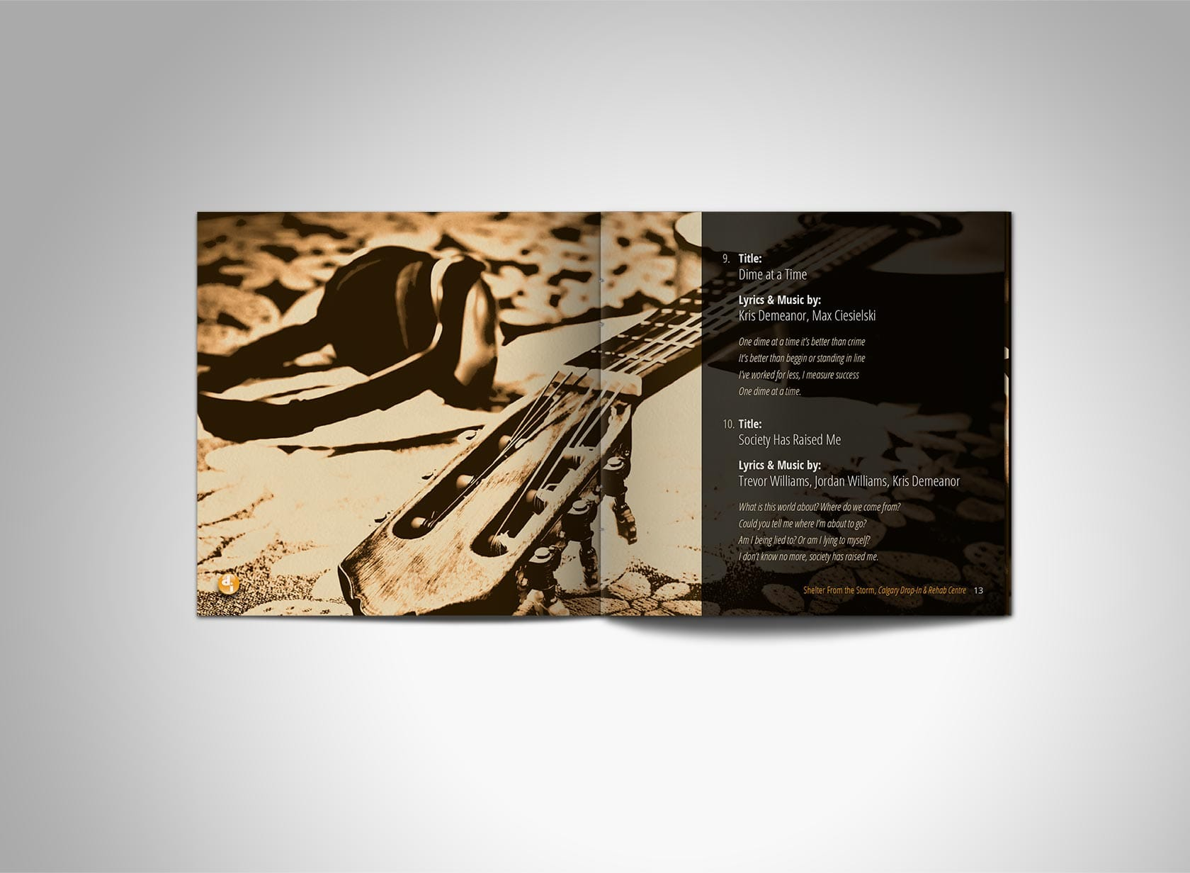 SFTS CD Project Image 01 - Event Program Design, CD Case - CD Booklet, Inner Spread Pages 12/13